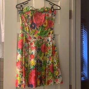 Top shop Strapless Flowery Dress - US 4